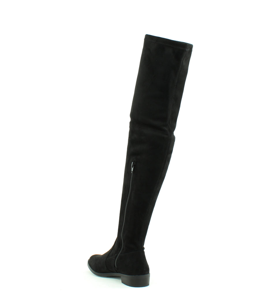 Yieldings Discount Shoes Store's Irinaa Over The Knee Suede Boots by INC in Black