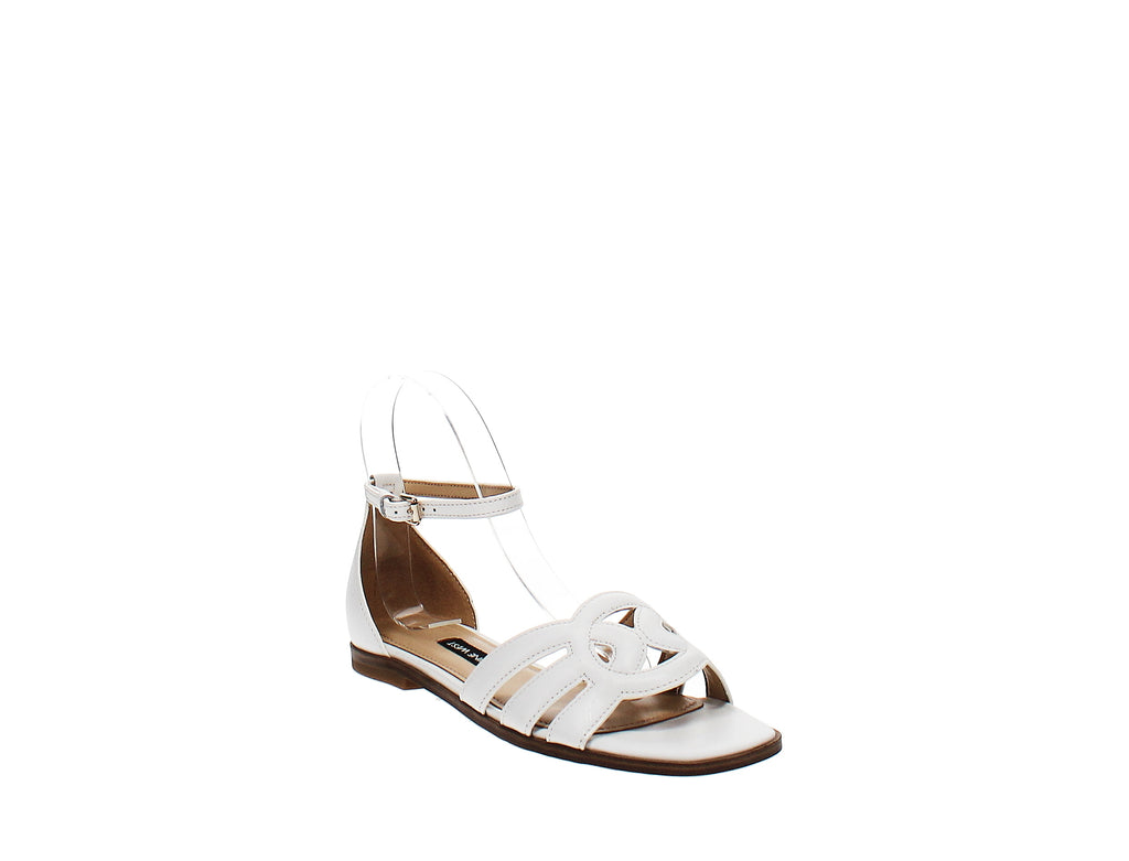 Yieldings Discount Shoes Store's Genna Flat Sandals by Nine West in White