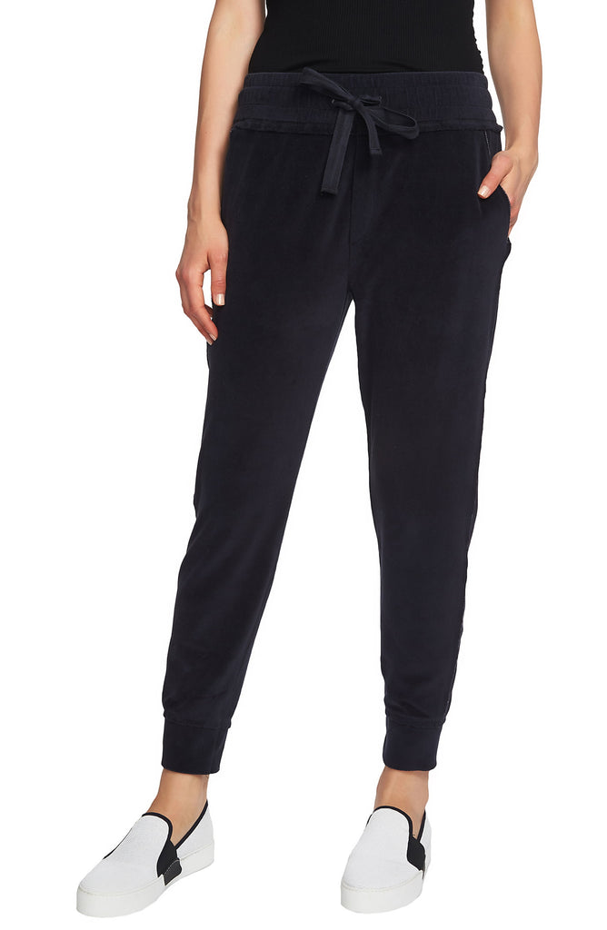 1.State | Raw Hem Velour Jogger Pants