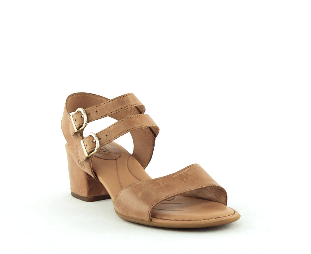 Yieldings Discount Shoes Store's Malang Double Strap Sandals by Born in Light Brown Luggage