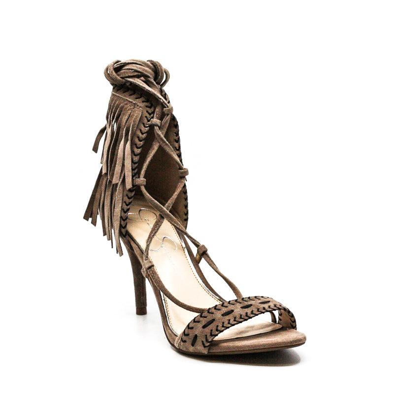 Yieldings Discount Shoes Store's Mareya Heel Sandals by Jessica Simpson in Brown