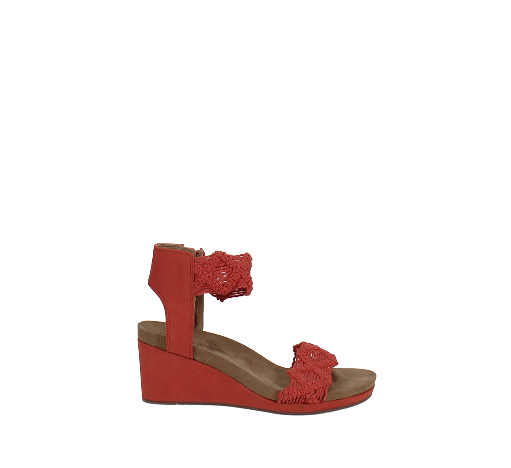 Yieldings Discount Shoes Store's Kierlo Wedges by Lucky Brand in Aurora Red