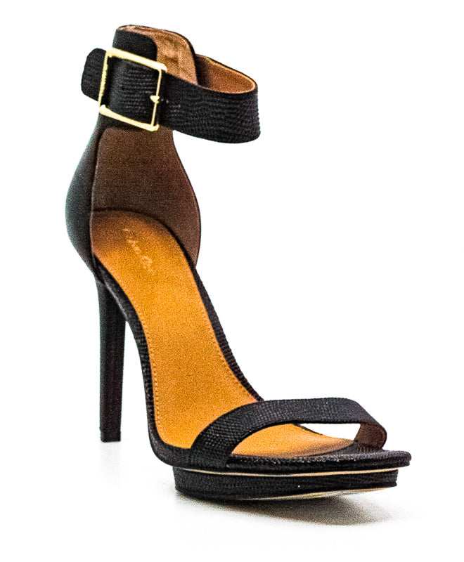 Calvin Klein | Vable New Lizard/Cow Silk Heel Sandals