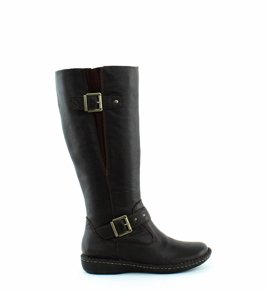 Yieldings Discount Shoes Store's Austin Riding Boots Wide Calf by BOC by Born in Dark Brown