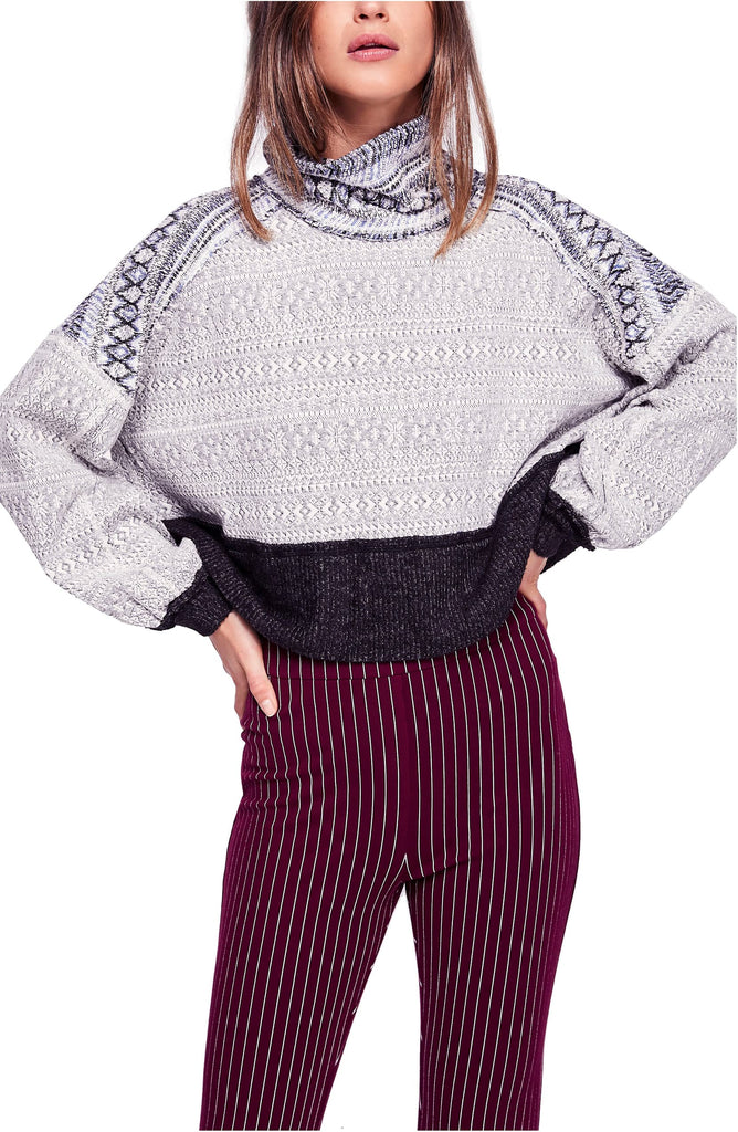 We The Free By Free People | At The Lodge Fair Isle Cropped Sweater