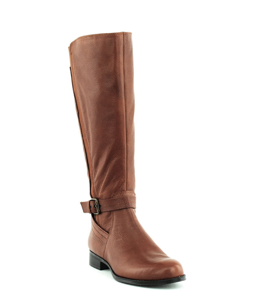 Yieldings Discount Shoes Store's Jelina Wide Calf Tall Boot by Naturalizer in Banana Bread