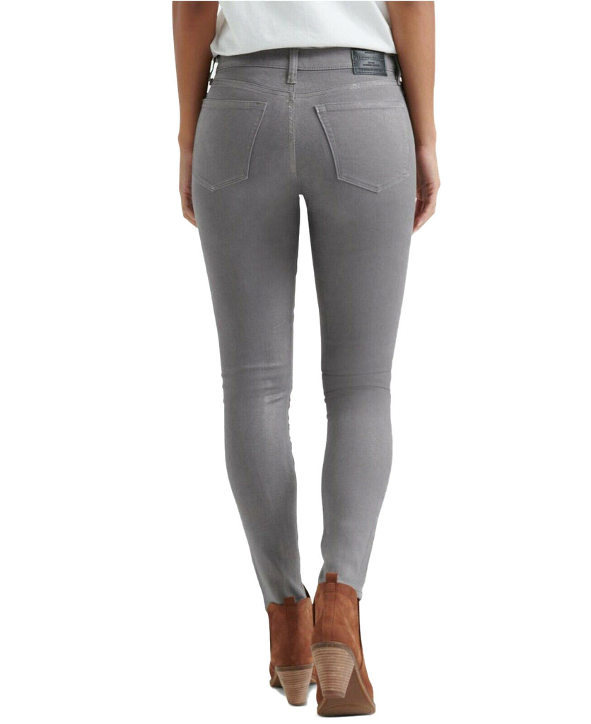 Yieldings Discount Clothing Store's Ava Coated Skinny Jeans by Lucky Brand in Silver