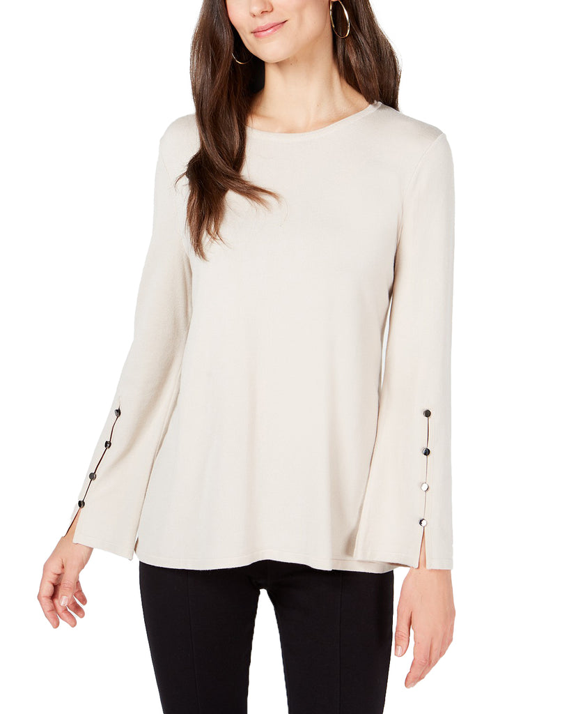 Yieldings Discount Clothing Store's Hardware-Sleeve Top by Alfani in Polished Beige