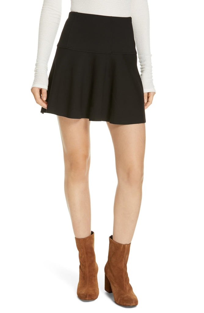 Yieldings Discount Clothing Store's Highlands Miniskirt by Free People in Black