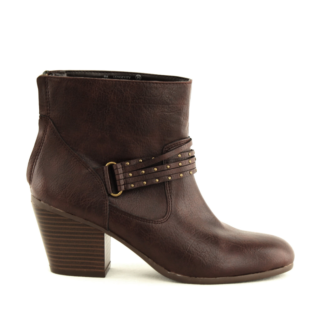 Yieldings Discount Shoes Store's Longevity Block Heels by Aerosoles in Brown