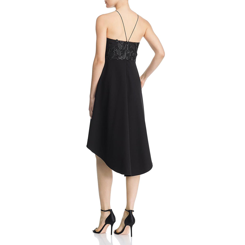 Yieldings Discount Clothing Store's Floral-Applique Dress by Aidan by Aidan Mattox in Black