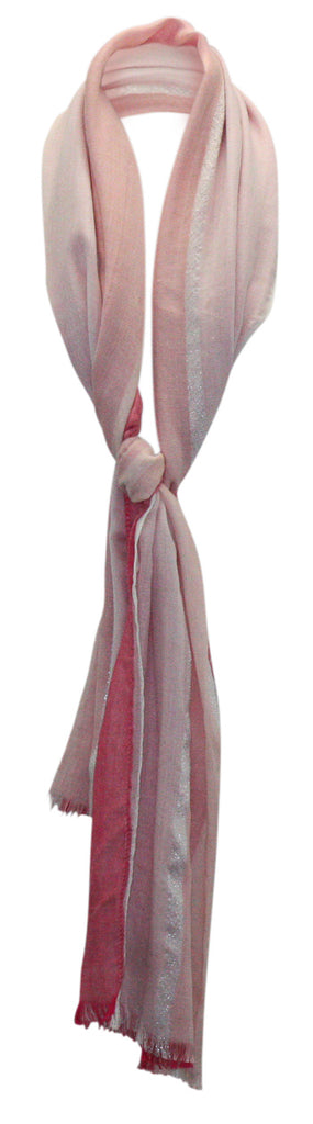 Yieldings Discount Accessories Store's Chambray Colorblock Cover-Up & Scarf by Calvin Klein in Spring Rose