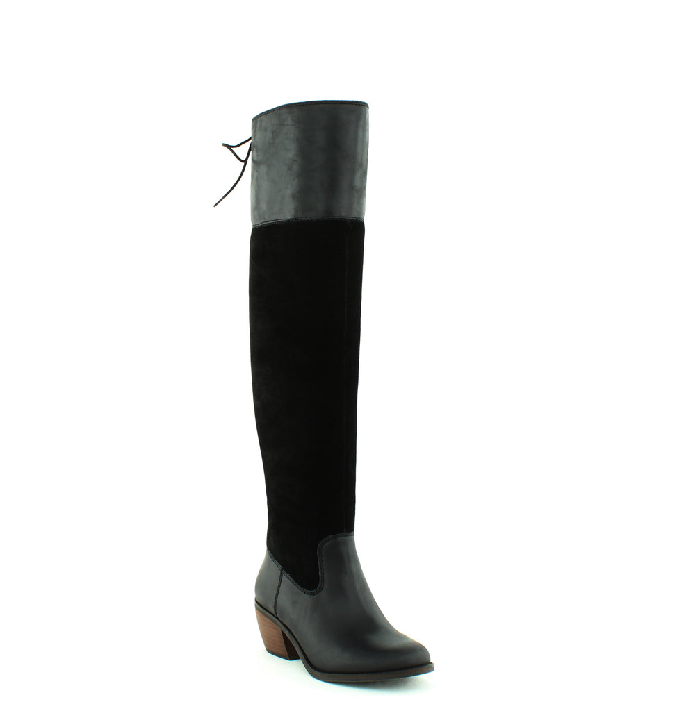 Yieldings Discount Shoes Store's Komah Tall Boots by Lucky Brand in Black