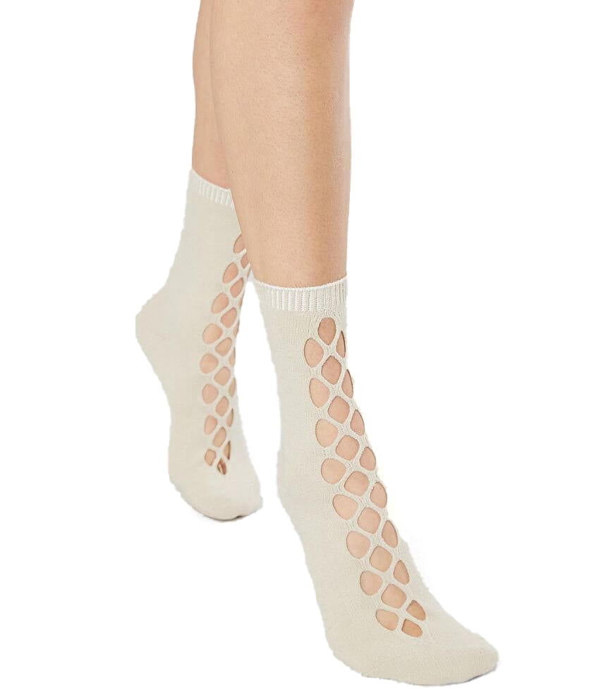 Yieldings Discount Clothing Store's Bonjour Cutout Anklet Socks by Free People in Nude
