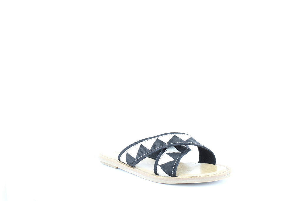 Yieldings Discount Shoes Store's Viv Slide Sandals by Toms in Black Tribal