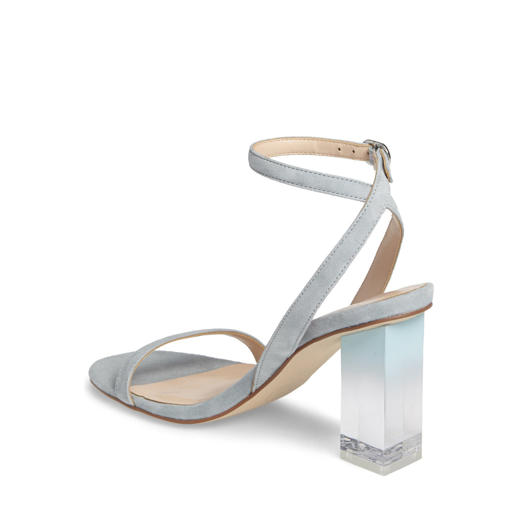 Yieldings Discount Shoes Store's Shanie Clear Heel Sandal by Chinese Laundry in Blue