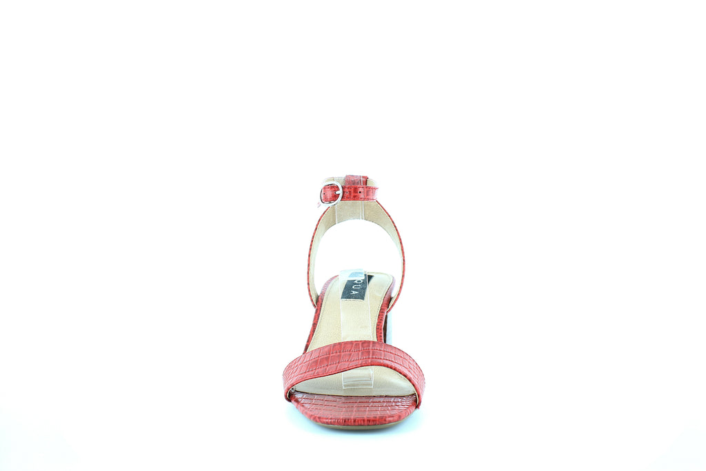 Yieldings Discount Shoes Store's Carly High-Heel Sandals by Aqua in Red Crocodile