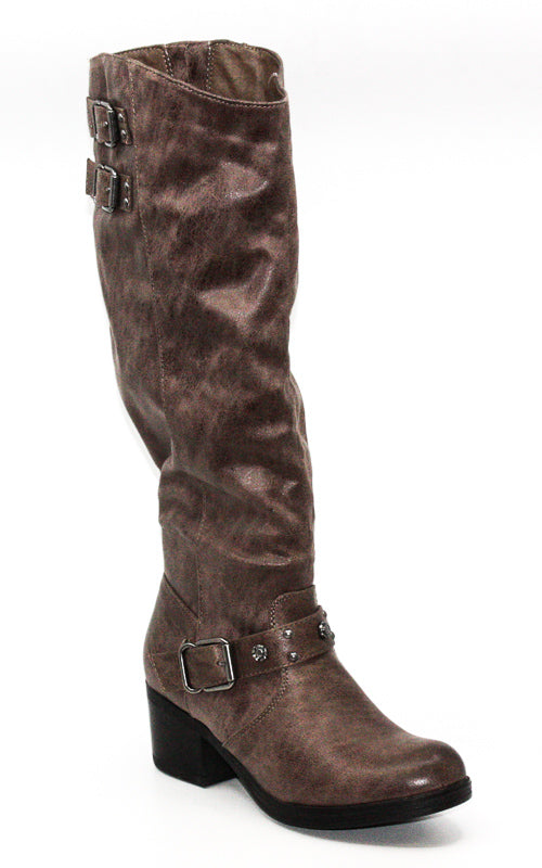 Yieldings Discount Shoes Store's Cara Tall Boots Wide Calf by Carlos by Carlos Santana in Taupe