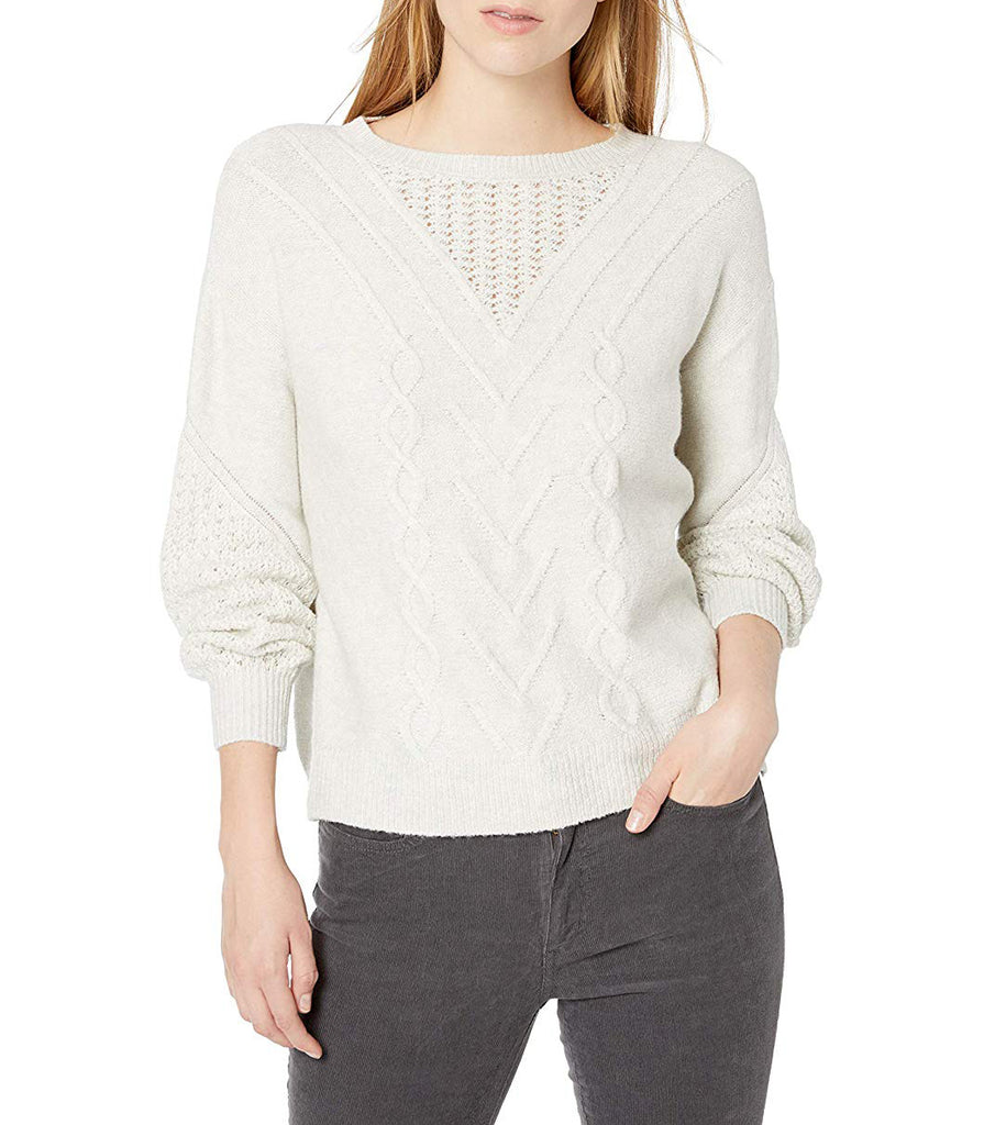 Yieldings Discount Clothing Store's Stitch Detail Pull Over by Lucky Brand in Light Gray