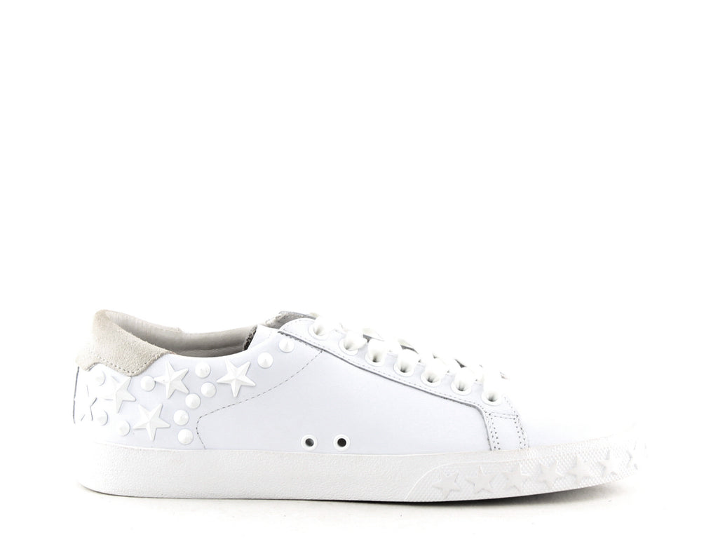 Yieldings Discount Shoes Store's Dazed Low-Top Sneakers by Ash in White