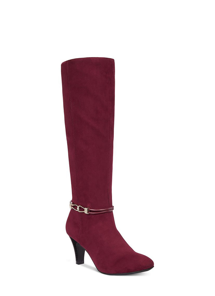 Yieldings Discount Shoes Store's Hollee Dress Boot by Karen Scott in Wine
