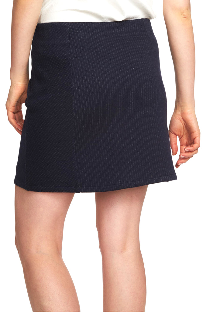 Yieldings Discount Clothing Store's Plush Luxe Pinstripe Skirt by 1.State in Blue Night