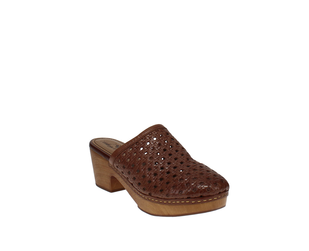 Yieldings Discount Shoes Store's Lorena Mules by Patricia Nash in Tan