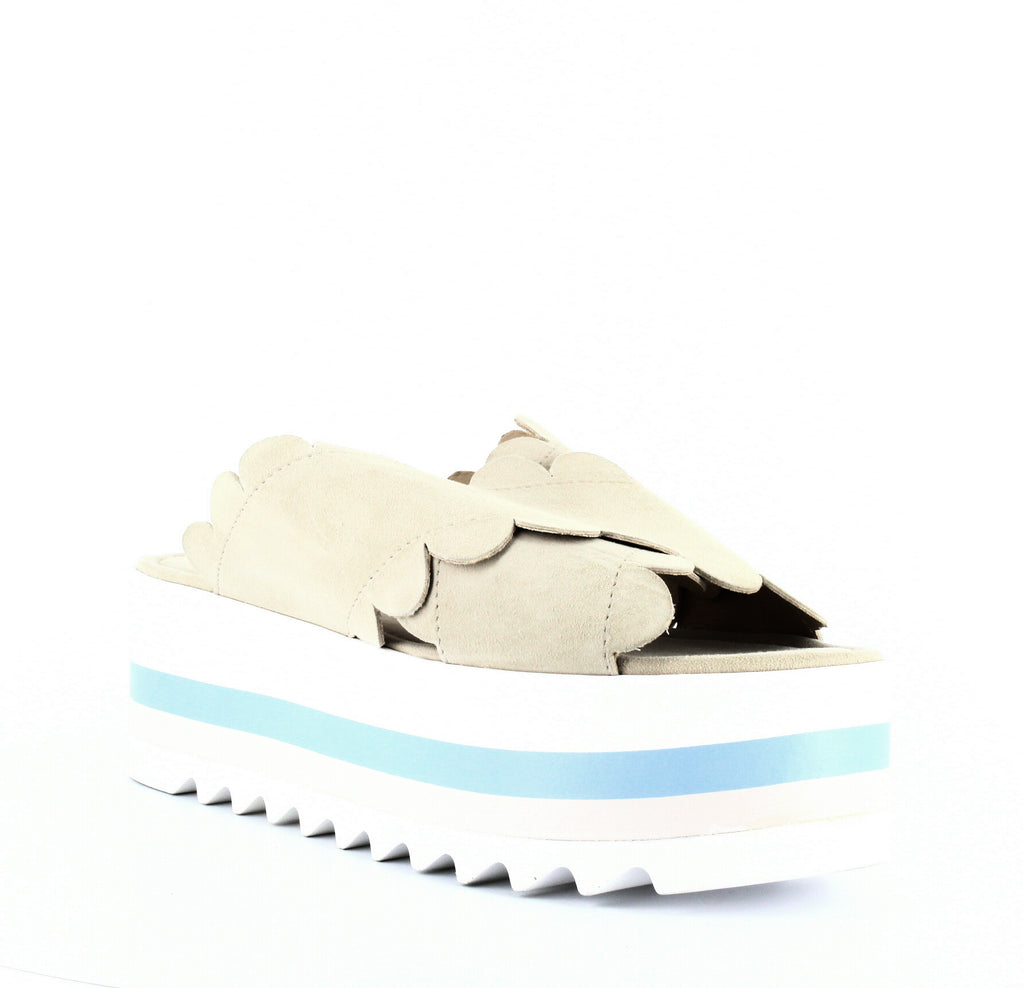 Yieldings Discount Shoes Store's Bondi Platform Slide Sandals by Isa Tapia in Dune