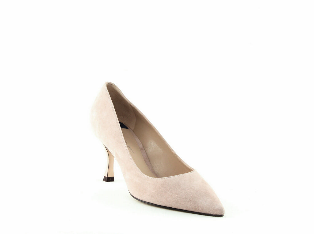 Yieldings Discount Shoes Store's Tippi 70 Suede Pumps by Stuart Weitzman in Dolce Combo Suede