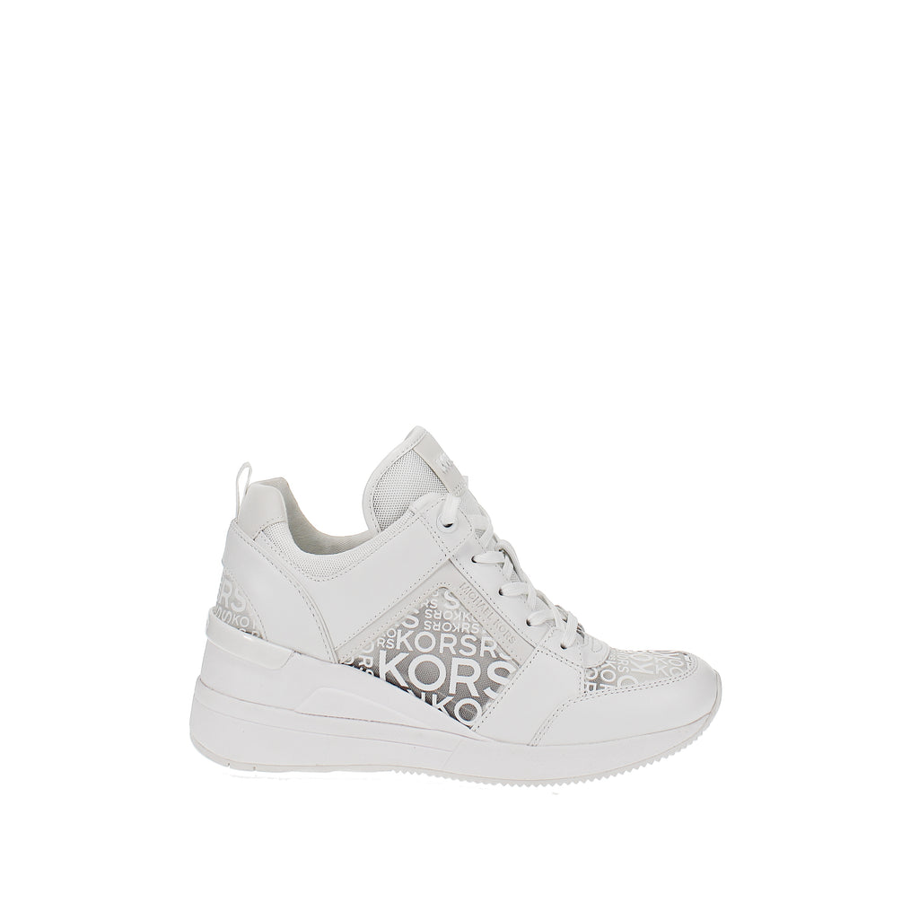 Yieldings Discount Shoes Store's Georgie Trainer by MICHAEL Michael Kors in Optic White