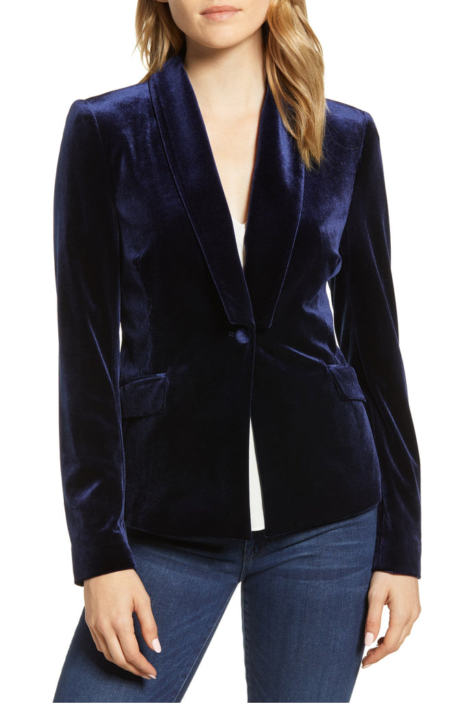 Yieldings Discount Clothing Store's Velvet Blazer by 1.State in Blue Night
