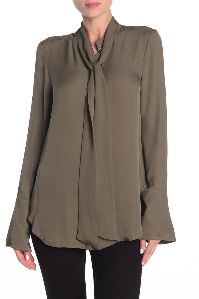 Yieldings Discount Clothing Store's Nadal Button-Down Top by Joie in Fatigue