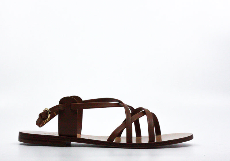 Yieldings Discount Shoes Store's Gioel Nappa Calf Sandals by Salvatore Ferragamo in Tan