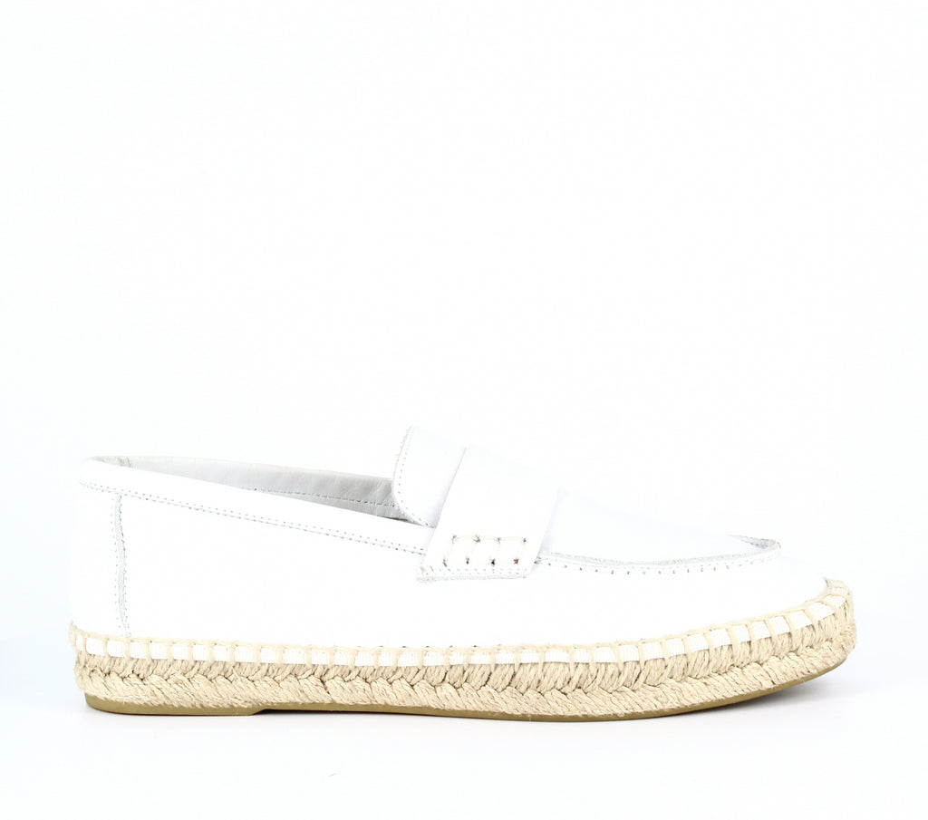 Yieldings Discount Shoes Store's Daria Espadrille Loafers by Vince in White