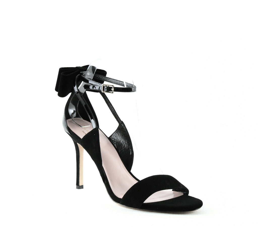 Yieldings Discount Shoes Store's Ilessa High-Heel Sandals by Kate Spade in Black Suede