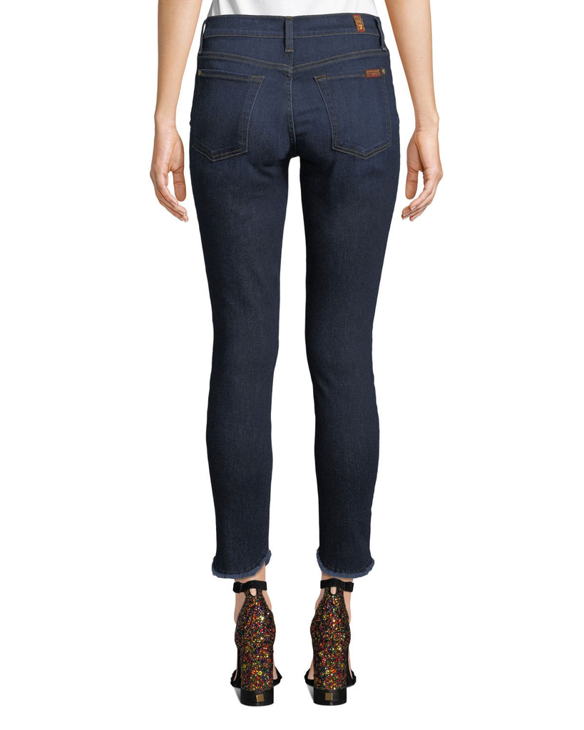 7 For All Mankind | Scallop Hem Ankle Skinny Jeans