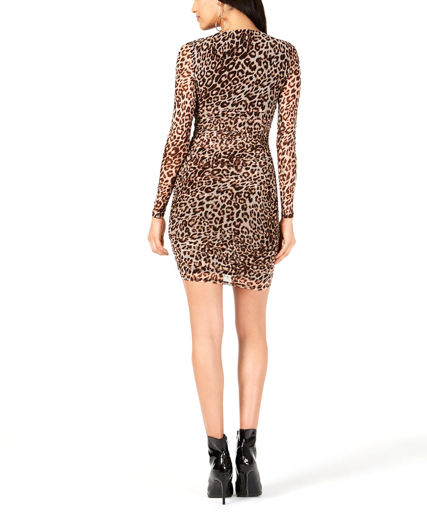 Guess | Kinzie Ruched Leopard Print Dress