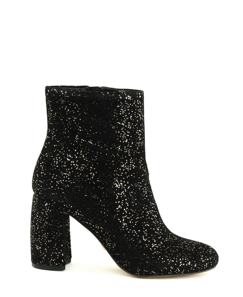 Yieldings Discount Shoes Store's Lilly Block Heels by Nanette Lepore in Black Sparkle