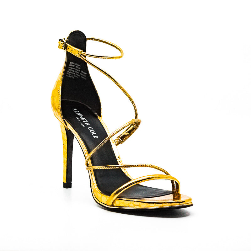 Yieldings Discount Shoes Store's Bryanna Heel Sandals by Kenneth Cole in Gold