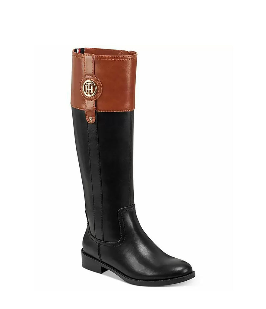 Yieldings Discount Shoes Store's Imina 3 Riding Boots by Tommy Hilfiger in Black Multi