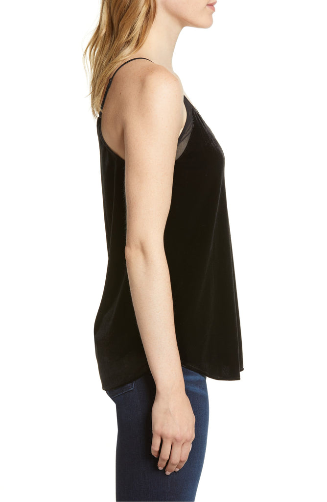Yieldings Discount Clothing Store's Velvet Camisole by 1.State in Rich Black