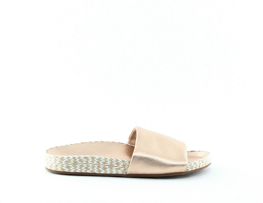 Yieldings Discount Shoes Store's Sanford Espadrille Slide Sandals by Splendid in Rose Metallic