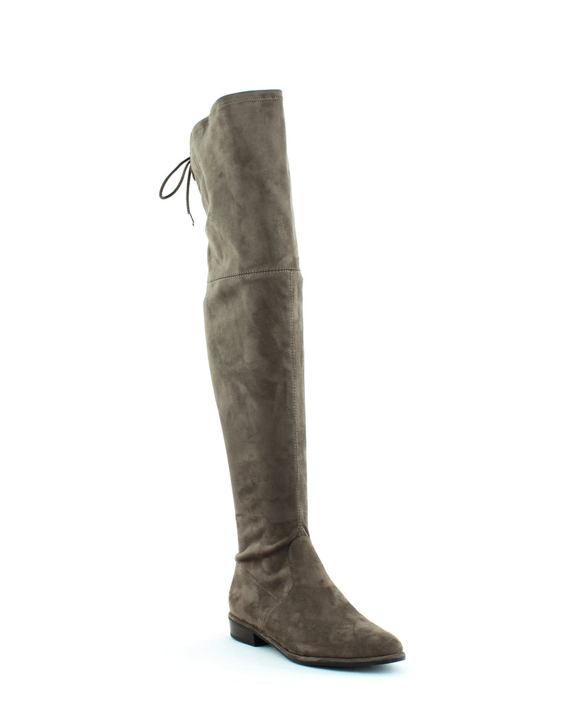 Yieldings Discount Shoes Store's Humor 2 Over The Knee Boots by Marc Fisher in Taupe Fabric