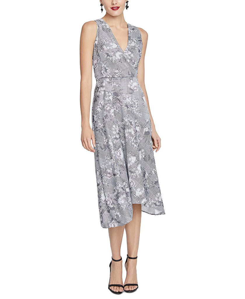Yieldings Discount Clothing Store's Giles Sleeveless Printed Dress by RACHEL Rachel Roy in Grey Giles Plaid