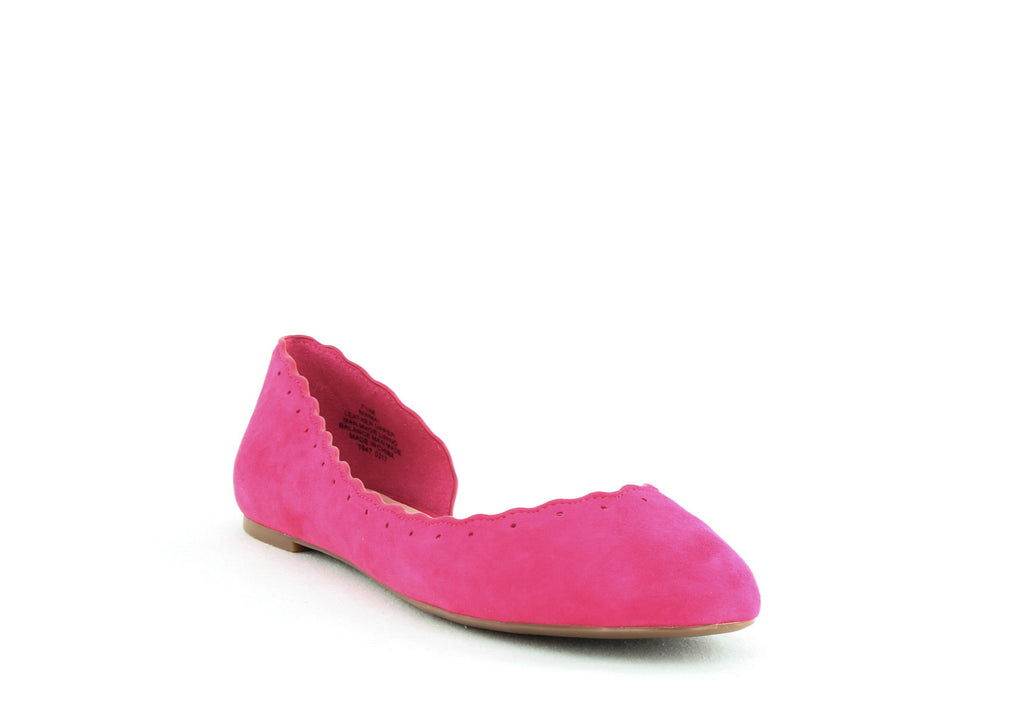 Yieldings Discount Shoes Store's Mai Ballet Flat by Nine West in Pink