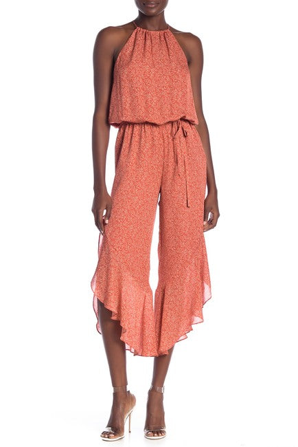 Yieldings Discount Clothing Store's Jael Sleeveless Jumpsuit by Joie in Cinnamon