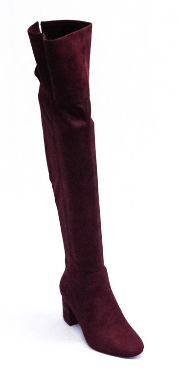 Yieldings Discount Shoes Store's Novaa Tall Boots by Alfani in Mulberry