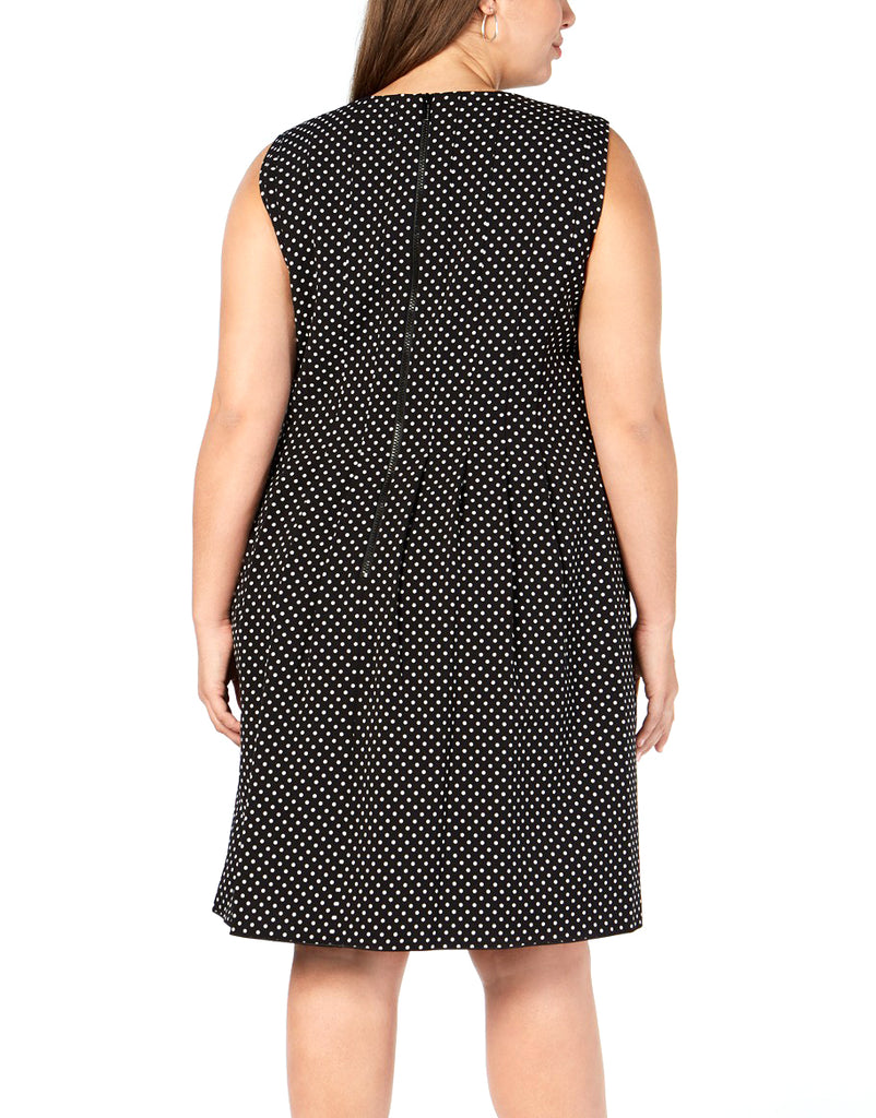 Yieldings Discount Clothing Store's Printed Fit & Flare Dress by Anne Klein in Black/White