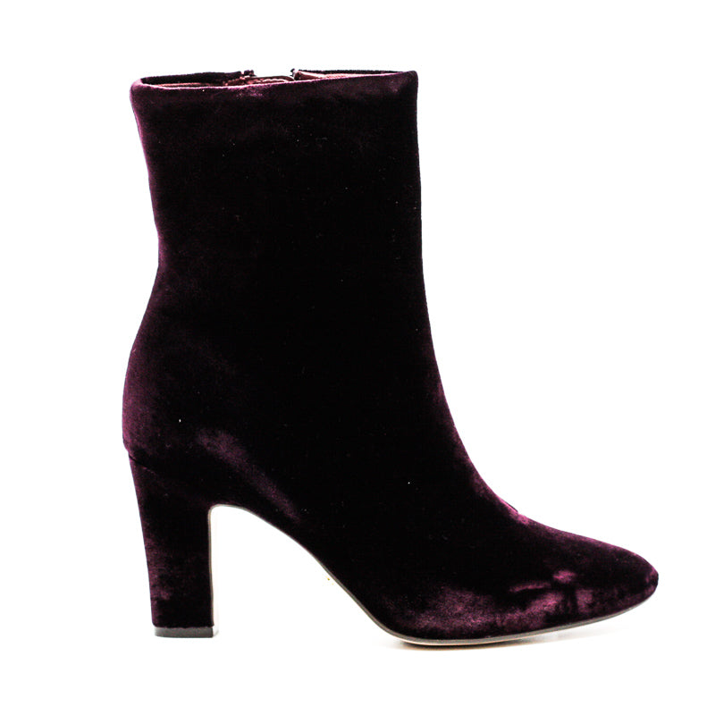 Yieldings Discount Shoes Store's Bridgett Heel Boots by Ralph Lauren in Red Velvet