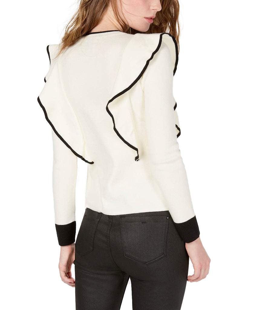 Yieldings Discount Clothing Store's Knit Long Sleeve Top by JOA in Cream